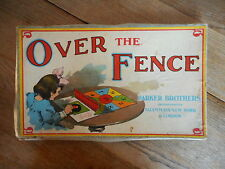 Vintage Parker Brothers Game Over the Fence Early 1900's Missing pieces Victoria