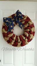 Patriotic Wreath, Rustic Wreath, Primitive Wreath, flag wreath, Americana wreath
