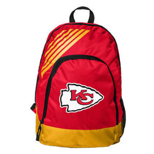Kansas City Chiefs BackPack Back Pack Book Sports Gym School Bag Border Stripe