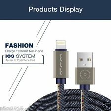Apple iphone 7/6/5 Charge 2.0AMP Denim Blue Jeans Original USB Data fast Cable