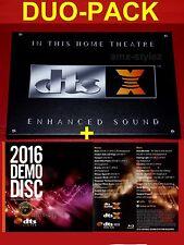 DTS:X Leinwand 20x30cm + DTS DEMO DISC 2016-Heimkino,Cinema, Logo, Soundcheck,3D