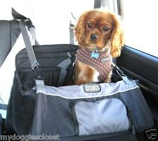 Dog Booster Seat Car Carrier - Folds Flat - Black w gray trim by Outward Hound