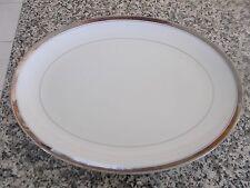 "Mikasa Alton Platter 12 1/2"" by 16 1/2"" Tableware Fine China Japan White"