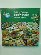Fishing Collage Jigsaw Puzzle 1000 Pieces New Sealed