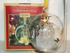 SPODE Christmas Tree Collection The Holy Family Manger Led Glass Ball Ornament
