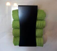 Handtuchhalter Handtuchregal Badregal Badmöbel Wandhalter, in schwarz
