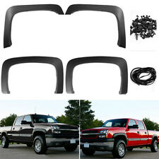 4x PP Fender Flares Wheel Cover For 07-13 Chevy Silverado 1500 2500HD/3500HD New