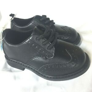 Carters Baby Toddler Dress Shoes Boys Size 4 Black Leather NEW With Tag $38