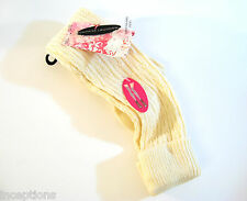 Chinese Laundry OVER Knee Socks Cable Weave Cuffed Ivory - NEW