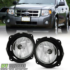 2007-2012 Ford Escape Bumper Fog Lights Front Driving Lamps w/Switch Left+Right