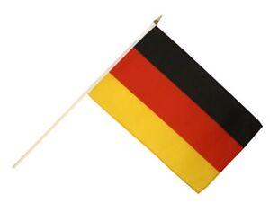Deutschland Stockflagge Flaggen Fahnen Stockfahne 30x45cm