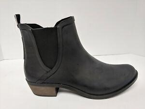 Lucky Brand Basel H20 Rain Booties, Black, Womens 12 M