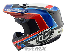 2018 Troy Lee Designs SE4 Squadra Team Carbon Motocross Helmet White Large