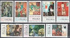 Poland 1970 paintings - Mi 2032-39  used gestempelt