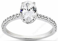 0.30 carat Semi-mount Round Brilliant DIAMOND Engagement Ring for Oval shape