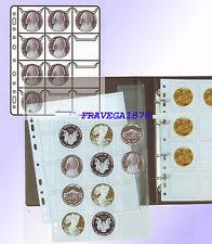 10 BUSTE PORTAMONETE 12 POSTI 18 X 24 CRISTAL