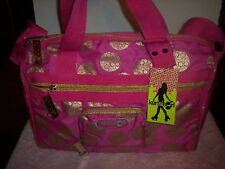 KENSIE GIRL LARGE TOTE SATCHEL HANDBAG~LACE COOKIE~NWT