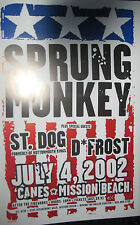 SPRUNG MONKEY/St. Dog & D Frost CONCERT POSTER