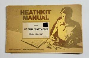 HEATHKIT HF DUAL WATTMETER HM-2140 MANUAL