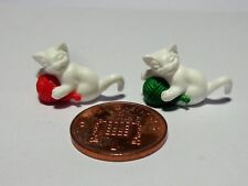1:12 Scale Pack Of 2 Kittens With Ball Dolls House pet,Nursery, Accessory (WBR)