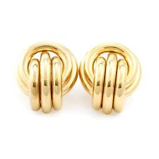 10k Yellow Gold Large Hollow Circular Earring (new, 5.0g) 3824
