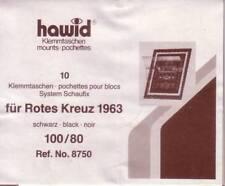 1 Pack.= 10 HAWID-Klemmtaschen schwarz 100x80 mm System Schaufix