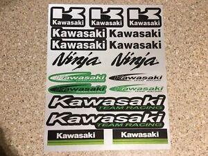 2 Pack Kawasaki Reflective Mx stickers decals graphics Sheet motorcross Monster
