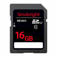 Ultra 16GB SD CARD Sinobright Class10 15MB/S 100X SD Memory Card For Camare GPS