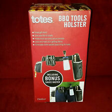 Totes Bbq Tools Holster S & P Shakers Bottle Opener Bonus Sauce Baster Nib Gift