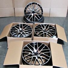 "Fits Mercedes AMG C S CLA CLK E Class 19"" Mesh Style Wheels Black Machined"