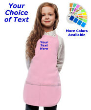 Personalized Kids Apron with Your Choice of Text Embroidery