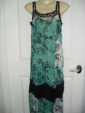 M LIZ JORDAN PARTY DRESS BLACK MULTI COLORED SLEEVELESS MID CALF CRUSH BNWT $39