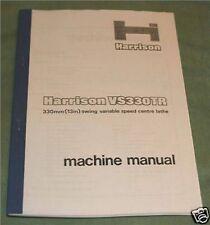 Harrison VS330TR Lathe Manual