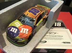 2017 Kyle Busch Halloween Lionel COA Autographed DIN 01 of 96 RARE and MINT