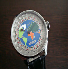 LeCoultre World Time dial Marriage watch Antique Swiss pocket watch movement