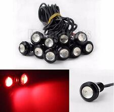 10 Pcs Eagle Eye COB LED 10W Red Car Daytime Running DRL Tail/Head Light Backup