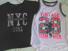 LOT TEE SHIRT NYC MARQUE MIM + TOP TUNIQUE DEBARDEUR MINNIE DISNEY TAILLE S