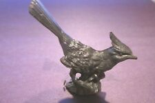 Pewter Cardinal Bird Figurine
