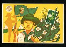 Postal History Israel Sc#204 Seal Label Maximum Card Scouts Jambouree 1961 Haifa
