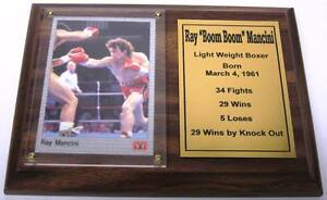 Ray Boom Boom Mancini Boxing Card Plaque