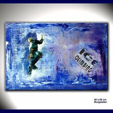 BURGSTALLER ORIGINAL Gemälde Bild Kunst Malerei Painting abstrakt Acryl KLETT 2