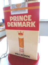 Tabak Reklame Prince Denmark Zigarettenschachtel Aufsteller mit Kuli vintage