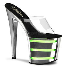 AU STOCK Pleaser Taboo-701T Chrome/ Green Rave Party Drag Queen Heels US12 AU11