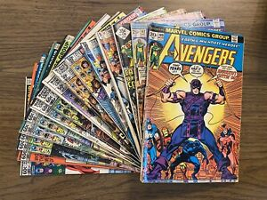 lot of 16 The Avengers #109-222 bronze age
