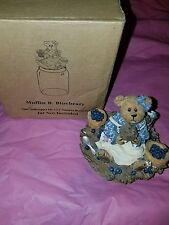 Genuine Boyds Bears - The Boydsenberry Patch - Muffin B. Blueberry Candletop