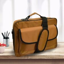 "Brown Laptop Notebook Carrying Briefcase Bag Case Fit 10.1"" to 14"" High Quality"
