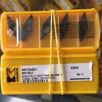 10Pcs Kennametal VBMT160408LF KC5010 VBMT332LF KC5010 CNC Carbide inserts New