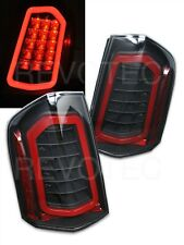 Black Full LED Tail Lights For 11-14 Chrysler 300 RH + LH w LED Reverse / Signal