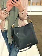 MICHAEL KORS HAYES LARGE BUCKET SHOULDER BAG LEATHER HOBO HANDBAG BLACK