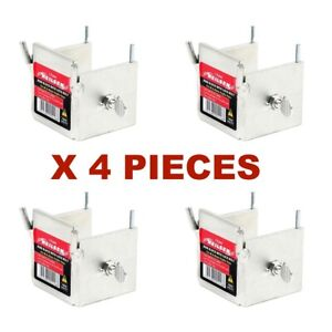 DORI BLOCK WITH LOCK BOLT X 4 PCS FOR 40MM & 50MM PROFILE POLES BRICK BLOCKS